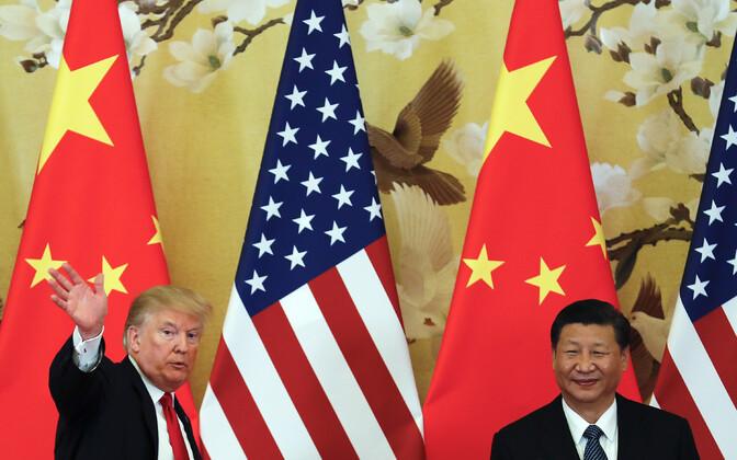 USA president Donald Trump ja Hiina president Xi Jinping.