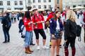 Сбор ученической дружины на Ратушной площади
