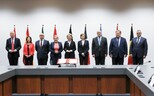 The defence ministers of the initiative's nine signatories.