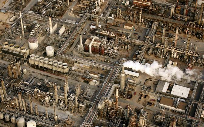 Nafta töötlemise tehas USA-s Texase osariigis.