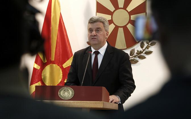 Makedoonia president George Ivanov.