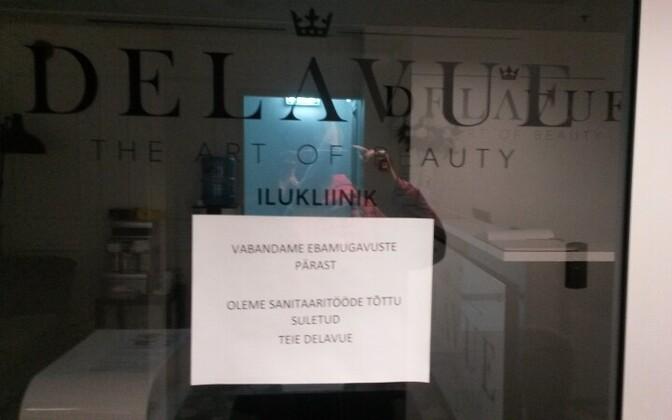 Салон Delavue закрылся со дня.