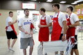 Eesti korvpallikoondis abivajajatele toitu kogumas