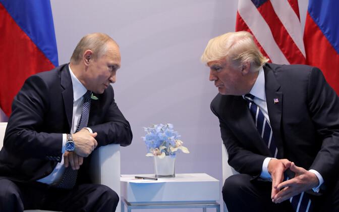 Vladimir Putin ja Donald Trump eelmisel aatsal G20 tippkohtumisel Hamburgis.