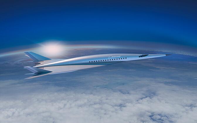 Концепт гиперзвукового самолета.