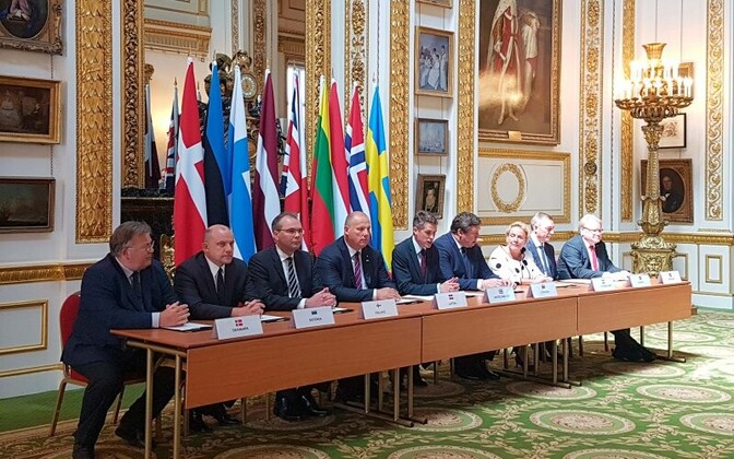 Signing of the UK Joint Expedition Force (JEF) cooperation agreement on Thursday. 28 June, 2018.