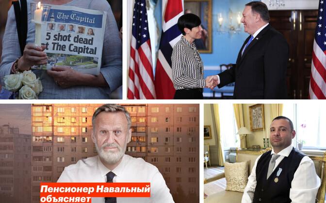 Capital Gazette ilmus eelnenud massitulistamisest hoolimata (AFP); Norra välisminister ja USA kolleeg (AP);