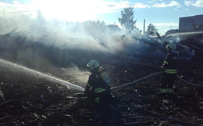 Пожар в Кивиыли.