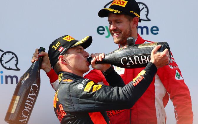 Max Verstappen ja Sebastian Vettel