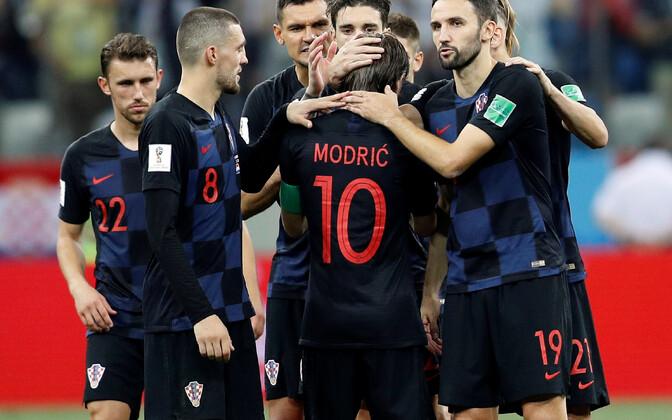 Сборная Хорватии на чемпионате мира 2018 в Москве.