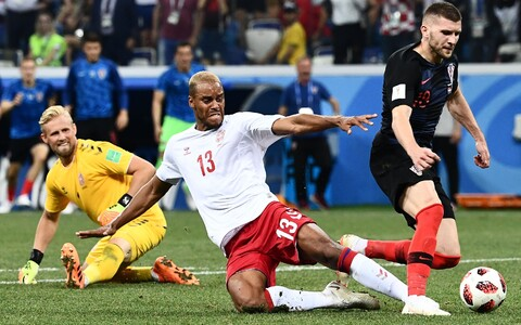 Kõnealune olukord Taani - Horvaatia mängus