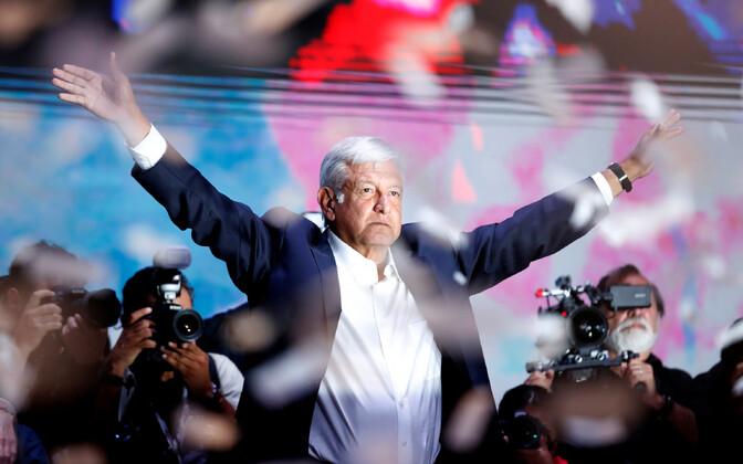 Mehhiko uus president Andrés Manuel López Obrador.