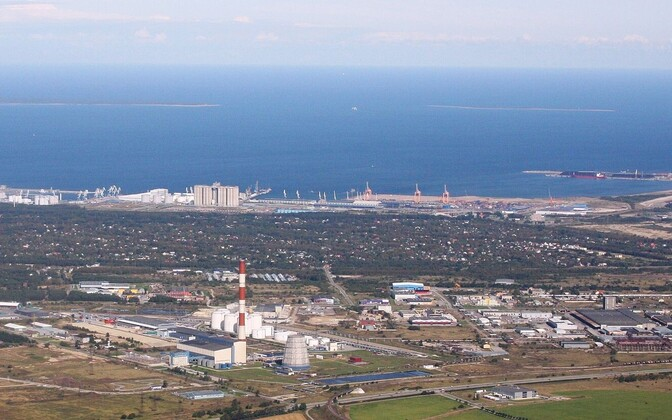Muuga harbour aerial view.