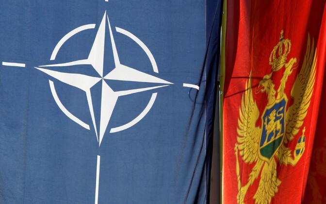 NATO ja Montenegro lipud.