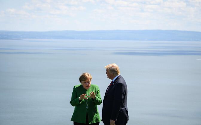 Merkel ja Trump 8. juunil Kanadas G7 tippkohtumisel.