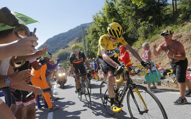 Chris Froome Alpe d'Huezi etapil
