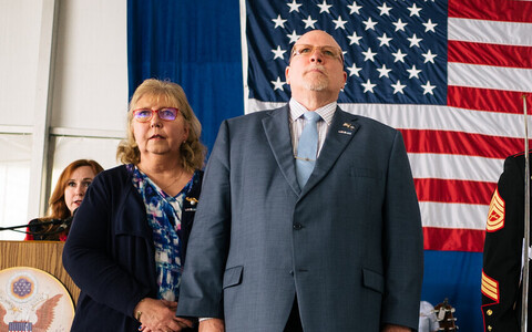 Former US Ambassador to Estonia James D. Melville, Jr. at the US Embassy's Fourth of July reception in Tallinn. July 2018.