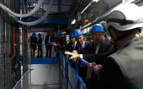 Jüri Ratas ja Eesti Valitsuse delegatsioon CERNis tänavu jaanuaris.