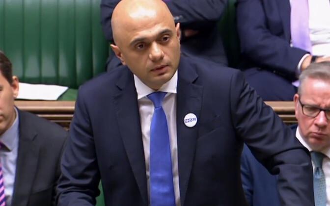 Briti siseminister Sajid Javid 5. juulil parlamendis.