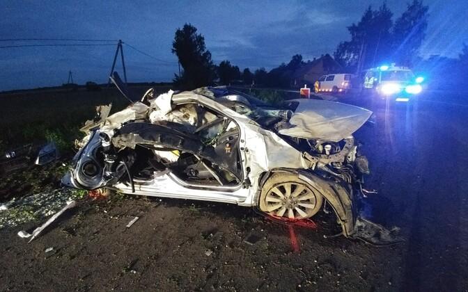 Tori vallas juhtunud avarii sündmuspaik
