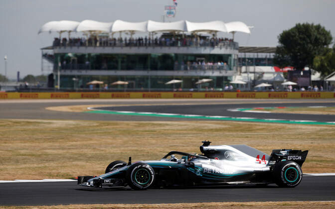 Lewis Hamilton Silverstone'is.