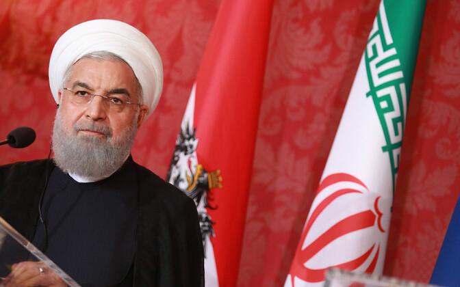 Iraani president Hassan Rouhani Viinis.