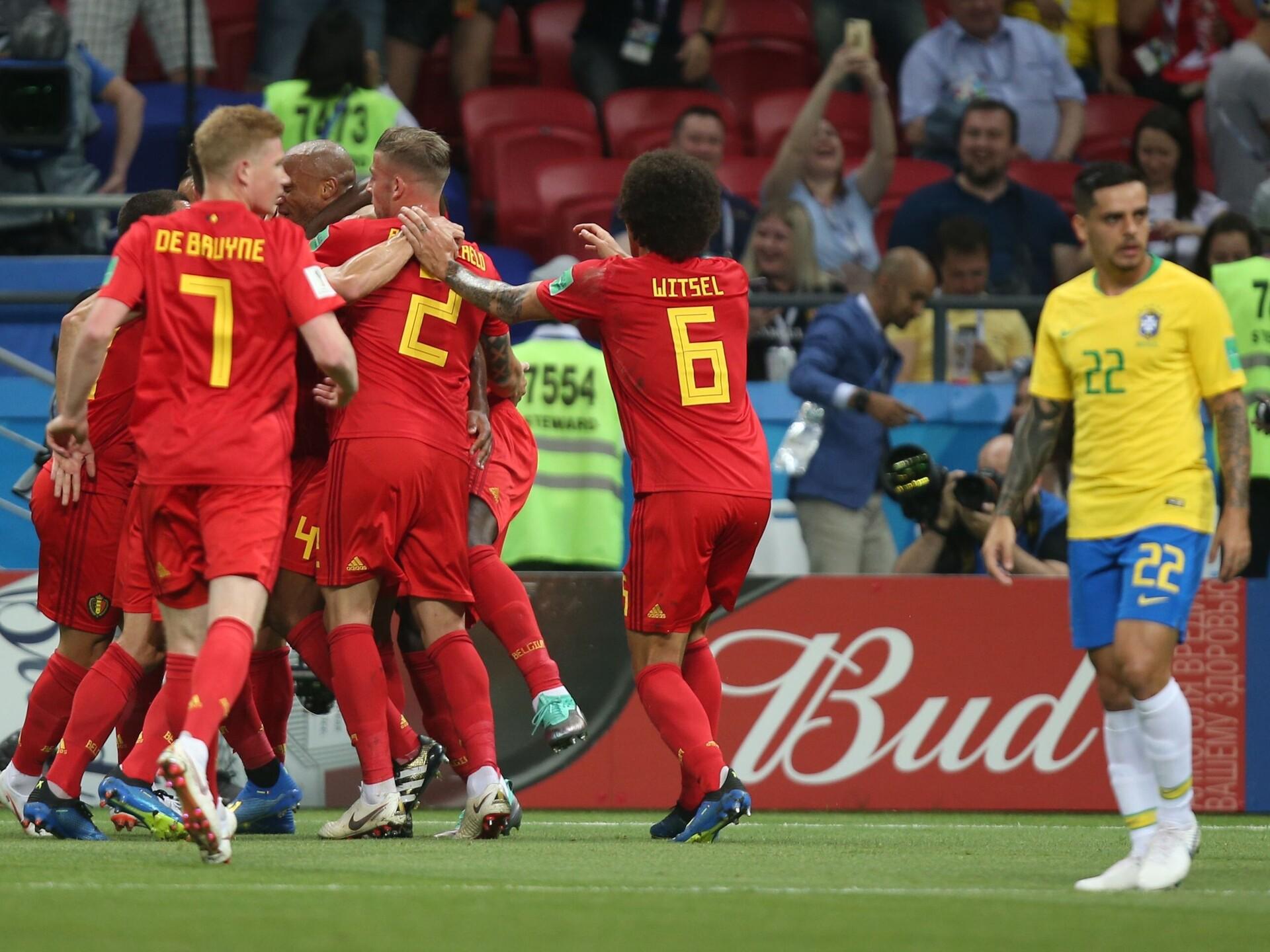 8e6ae099b6d Belgia pidas Brasiilia võimsale lõpusurvele vastu ja jõudis nelja sekka   Jalgpalli  MM   ERR