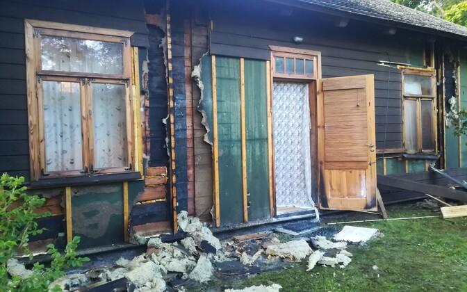 Joobes mees süütas 2018. aasta juulis Hedvig Hansoni maja