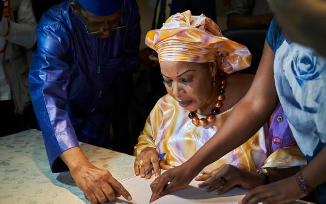 Presidendiks kandideeriv ärinaine Djeneba N Diaye.