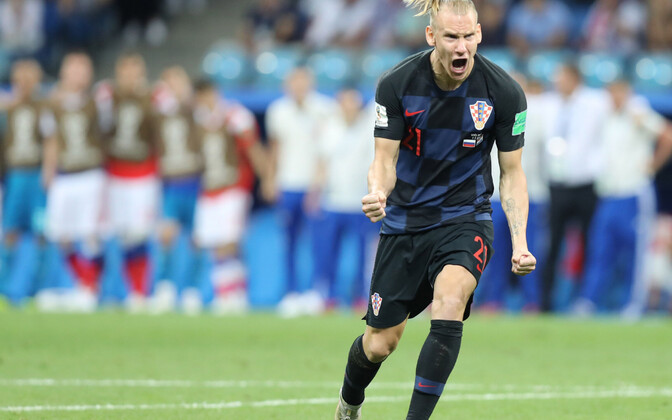 Защитник сборной Хорватии Домагой Вида.