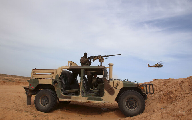 Tuneesia julgeolekujõud Liibüa piiri lähistel, arhiivifoto.