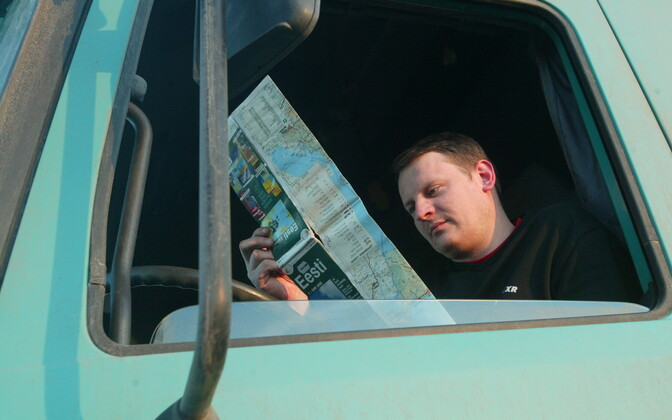 Lorry driver in Estonia. Photo is illustrative.