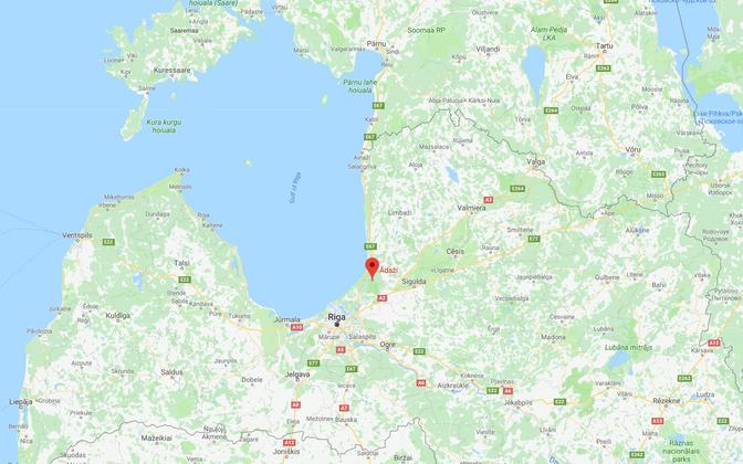 Поселок Адажи находится в 21 км от Риги.