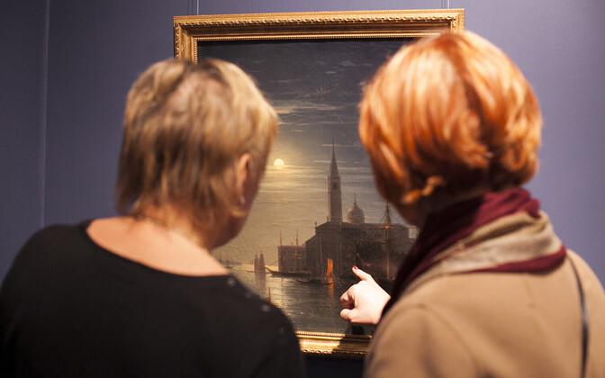 Выставка работ Айвазовского.