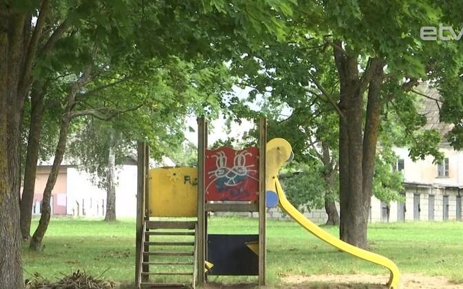 Детская площадка в Кохтла-Ярве.