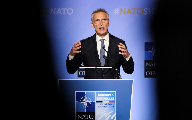 NATO Secretary General Jens Stoltenberg speaking the day before the alliance's 2018 Brussels Summit. 10 July, 2018.