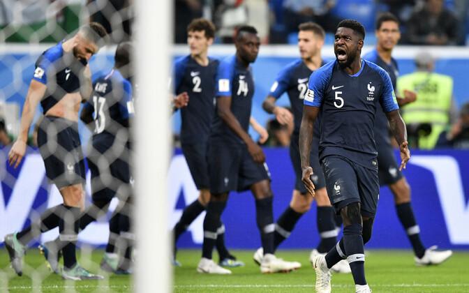6a2299b187e Umtiti tabamus viis Prantsusmaa finaali | Jalgpalli MM | ERR