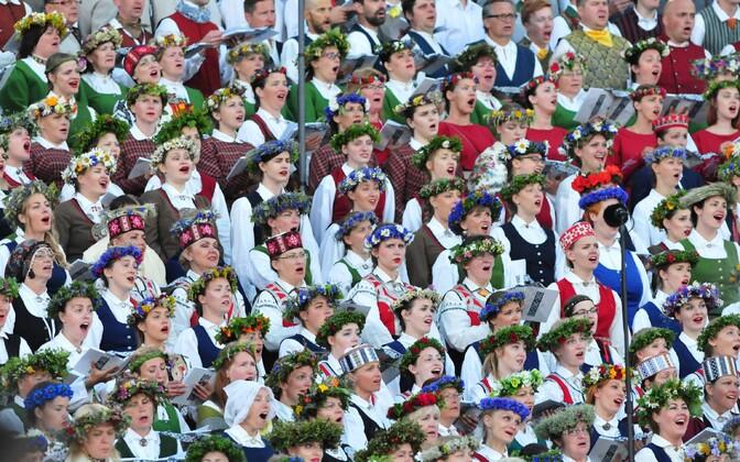 Läti laulupidu.