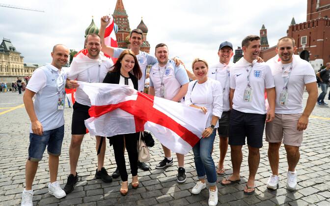 Inglismaa koondise fännid MM-finaalturniiril Venemaal
