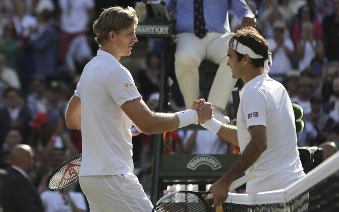 Kevin Anderson ja Roger Federer Wimbledoni veerandfinaalis