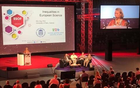 Elin Org kõnelemas teadusfoorumil ebavõrdsusest teaduses.