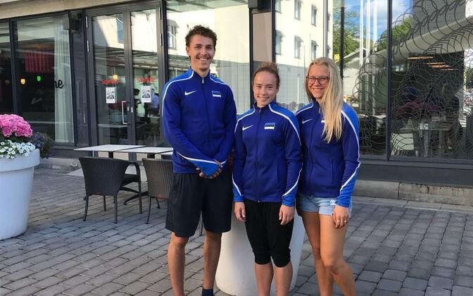 Eesti U-20 kergejõustikukoondis Tamperes