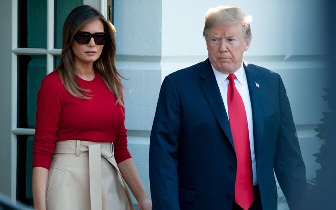 Melania ja Donald Trump Valges Majas.