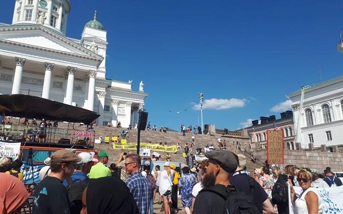 Митинг в Хельсинки, 15 июля.