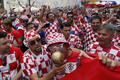 Болельщики сборной Хорватии в Москве.
