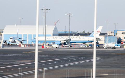 Запасной самолет Трампа в Таллинне