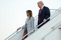 USA president Donald Trump ja Melania Trump saabusid Vantaa lennujaama.