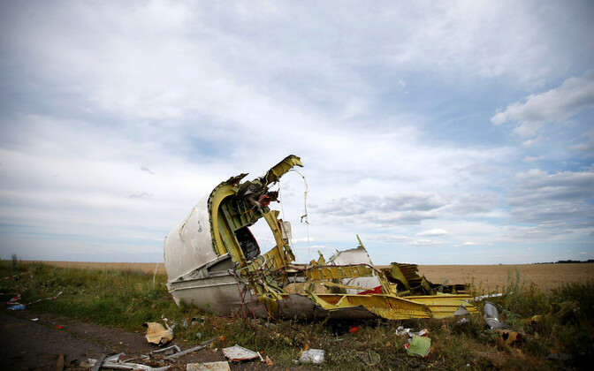 Wreckage from MH17 in Donetsk Oblast, Ukraine, in July 2014.
