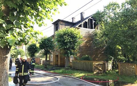 Пожар в жилом доме в Тарту