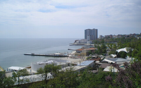 View overlooking Arcadia Beach in Odessa.